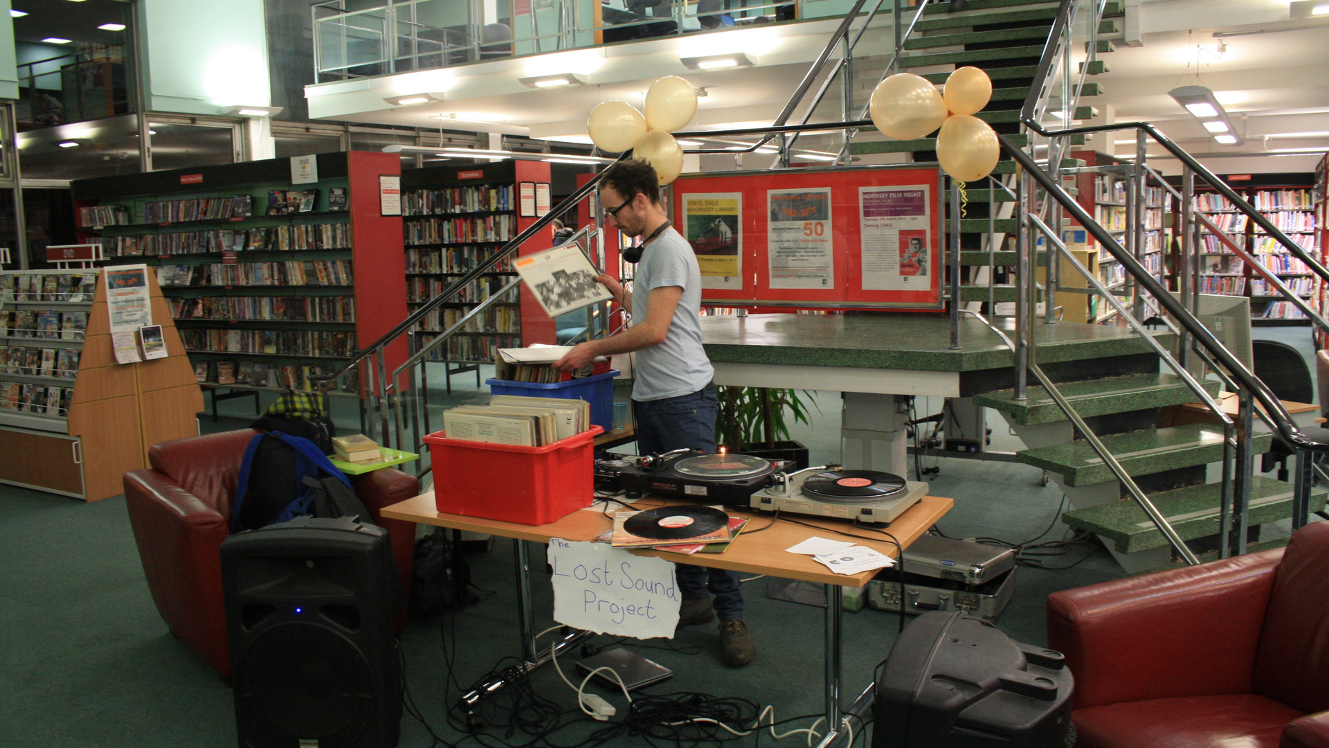 DJ IN A LIBRARY