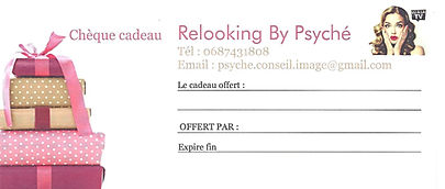 CHEQUE CADEAUX RELOOKING