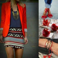 En mode recherche de style.👠 in red 😉...