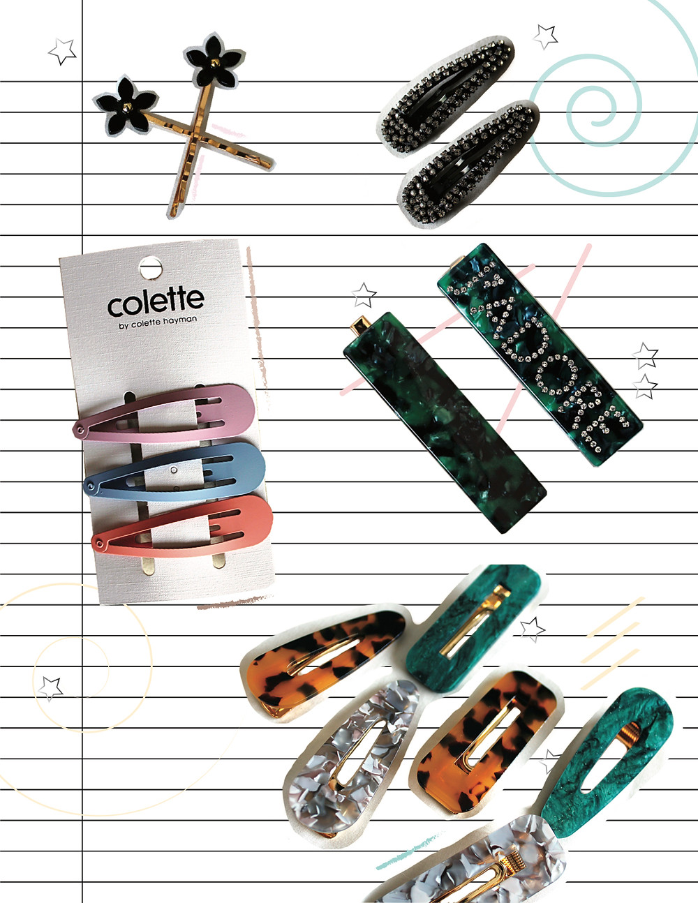 Hair Clips, Pins and Stylish Barrettes