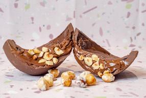 Ovo trufado de Nutella e Avelãs