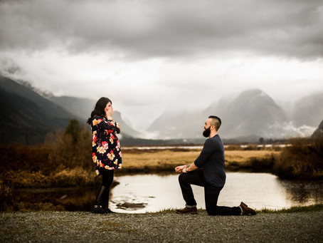 CLAYTON & KATELYN | SURPRISE PROPOSAL | PITT LAKE MATERNITY SESSION