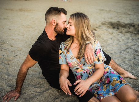 Steamy Sunset Engagement Session | Brittany & Braden