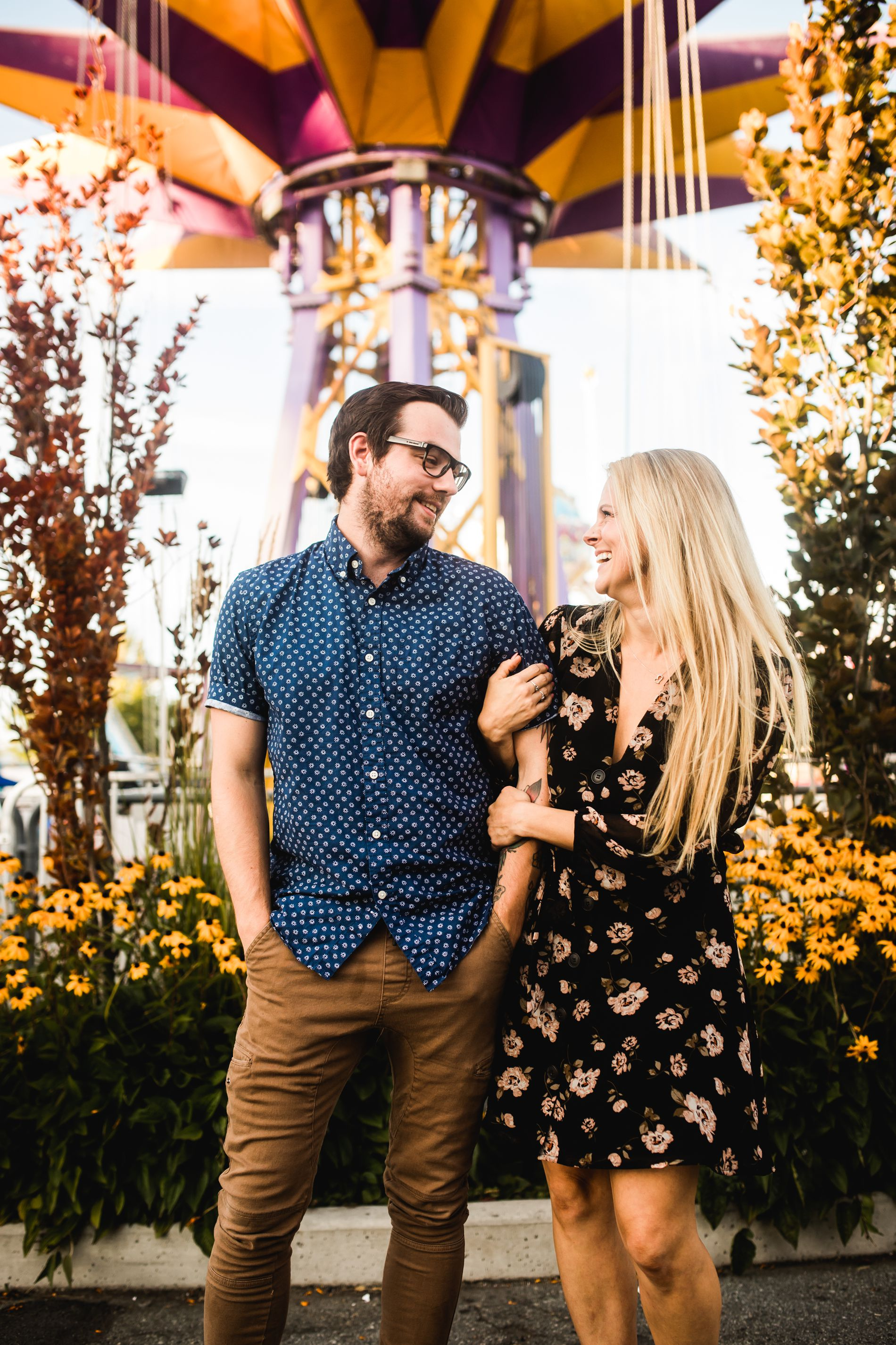 playland vancouver engagement session