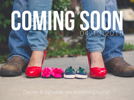 DARREN & VANESSA PREGNANCY ANNOUNCEMENT