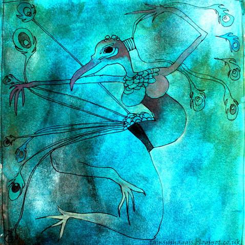 Blue peacreature