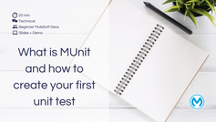 What is MUnit and how to create your first unit test