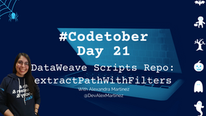 DataWeave Scripts Repo: extractPathWithFilters tail recursive function | #Codetober 2021 Day 21