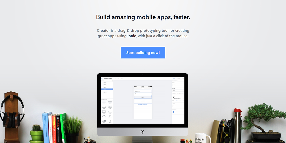 build amazing mobile apps, faster creator is a drag and drop prototyping tool for creating great apps using ionic, with just a click of the mouse. start building now