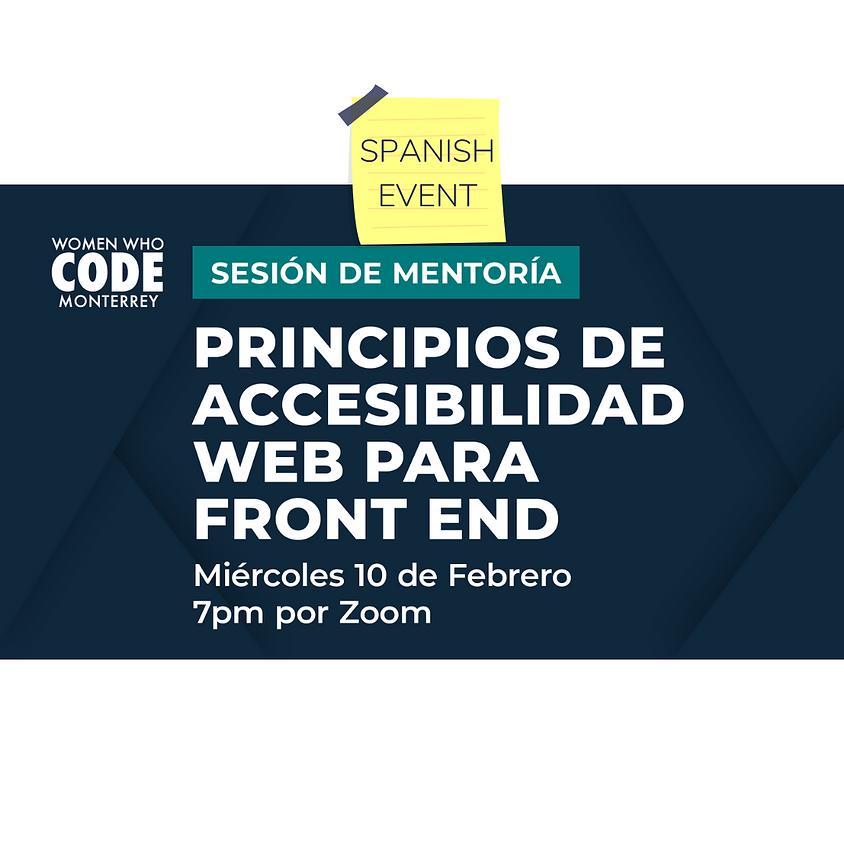 Sesión de mentoría: Principios de accesibilidad web para front end