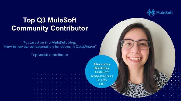 Meet the top MuleSoft Community Contributors of Q3