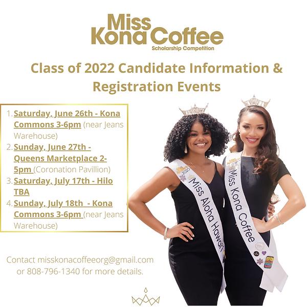 Class of 2022 Information & Registration