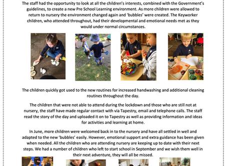 Pre-School Room Blog March - July 2020