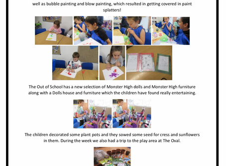 Out of School w/c 28th May 2019