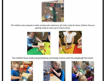 Pre-School Room  Week Commencing – 17th June 2019