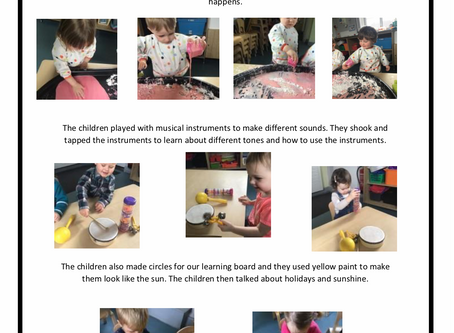 2-3's Room w/c 7th May 2019