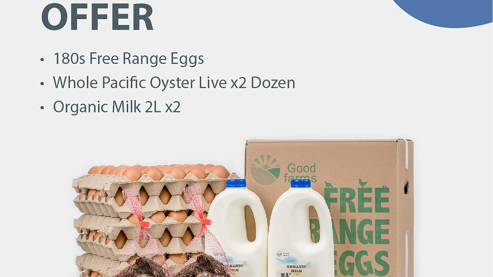 Oyster and Free-range Eggs Combo