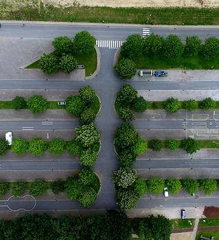 駐車場の空中写真