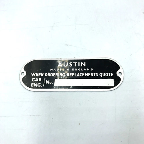Plate - Austin, Morris Chassis Oval