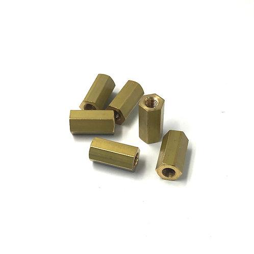 Manifold Nut set of 6 long, Brass