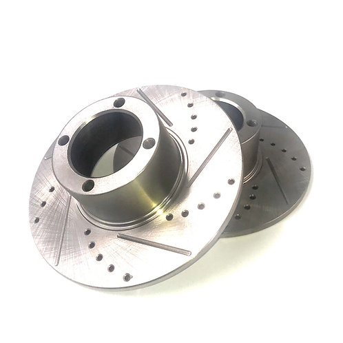 BRAKE ROTOR DISC WHEEL DRILLED AND SLOTTED PAIR