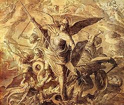 72358403-archange-michel-combattant-avec-le-dragon-la-gravure-de-nazareene-school-publiée-