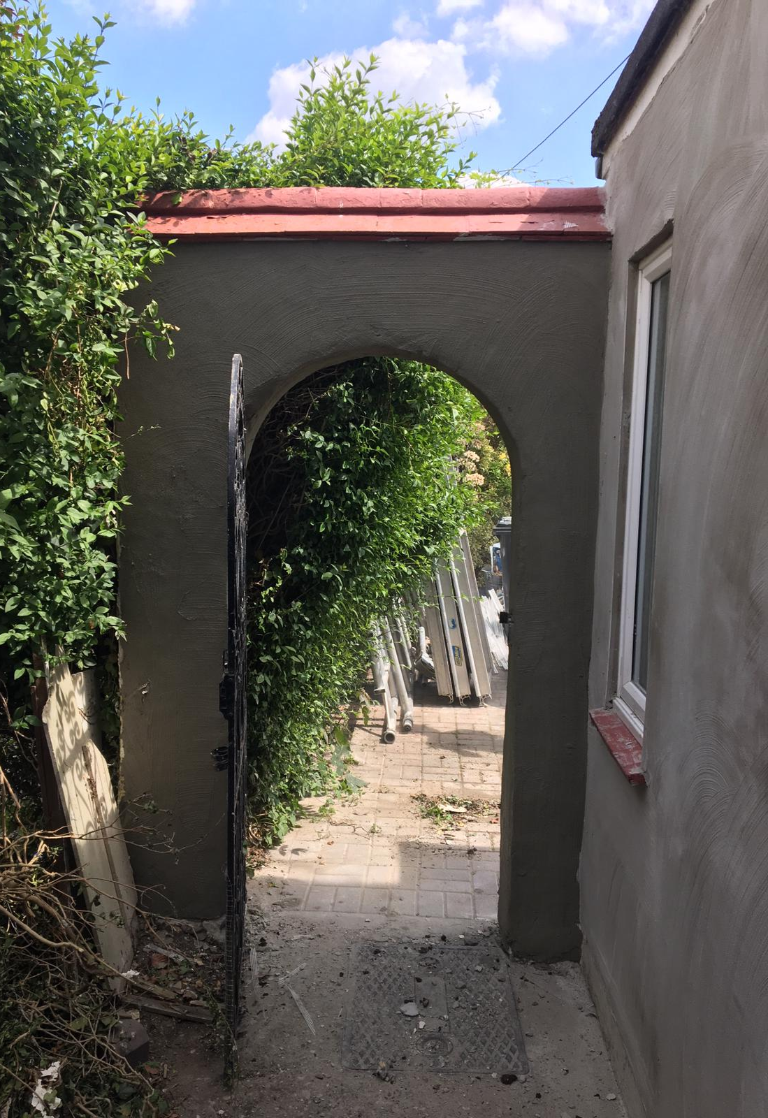 Side Wall and Garden Archway
