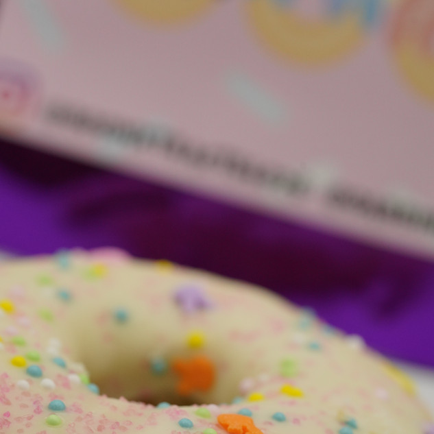 close up of a donut