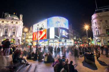 Piccadilly Circus at Night for Energy Company by Sirastudio. Photographers in Harrogate.