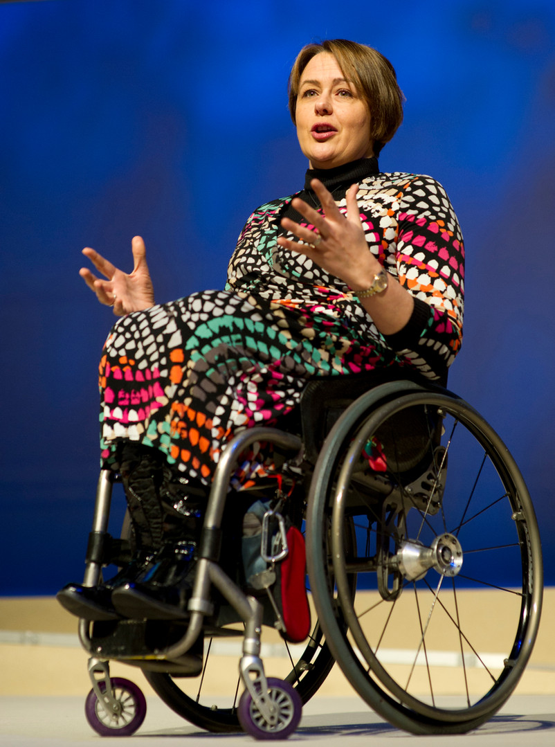 Dame Tanni Grey Tompson, Conference Speach by Sirastudio. Photographers in Harrogate.