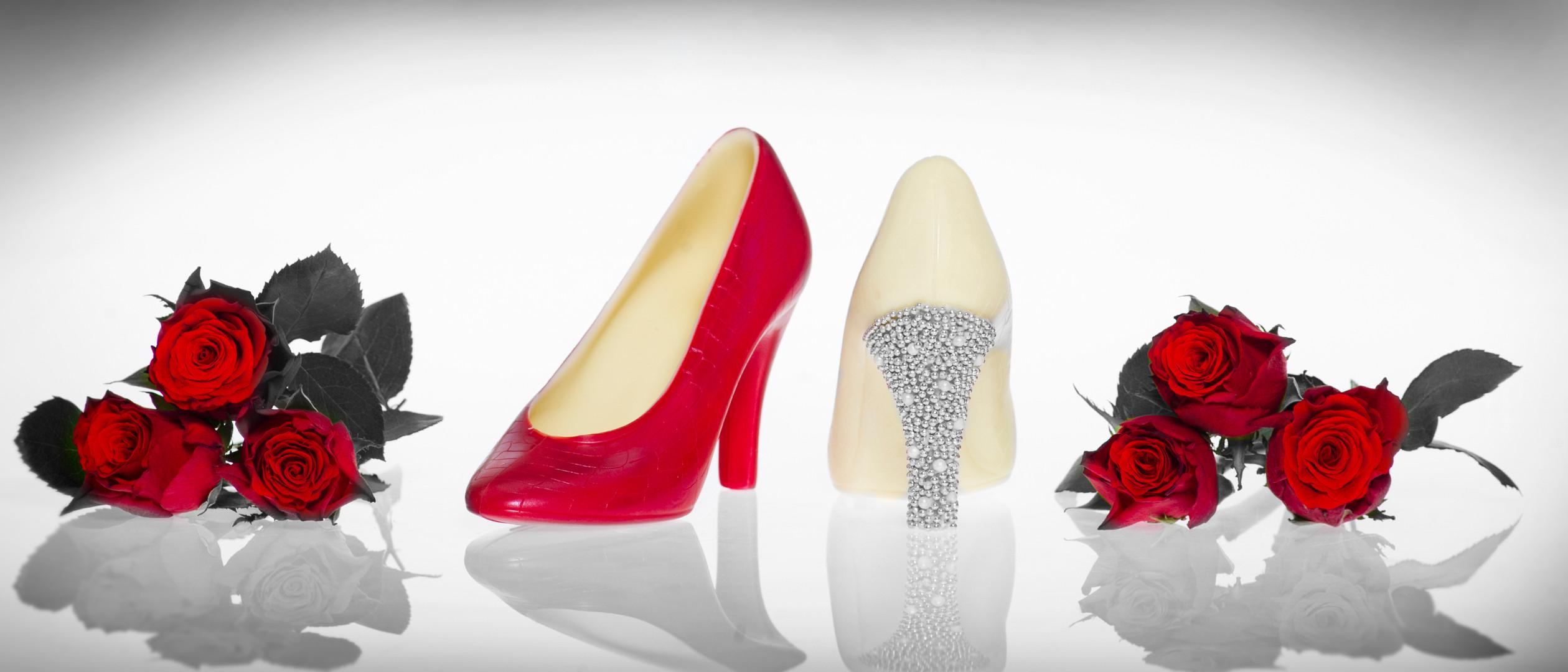 Azra Chocolate Shoes Studio Photography by Sirastudio. Photographers in Harrogate.