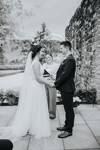 Sophie and James humanist wedding at Grassfield Hall. Celebrant Rachael Meyer. Photographer: Bright Sight Photography