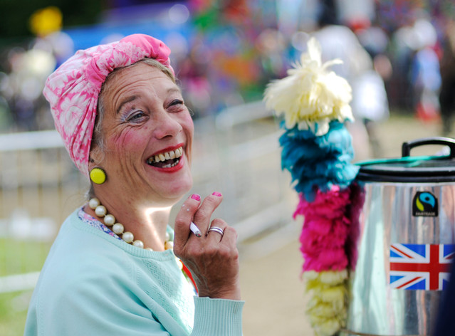 Tea Lady at Glastonbury by Sirastudio. Photographers in Harrogate.
