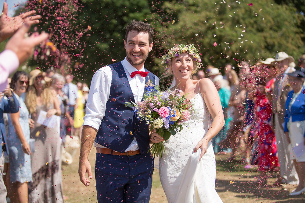 Outdoor humanist wedding ceremony. Photography by Ann Aveyard