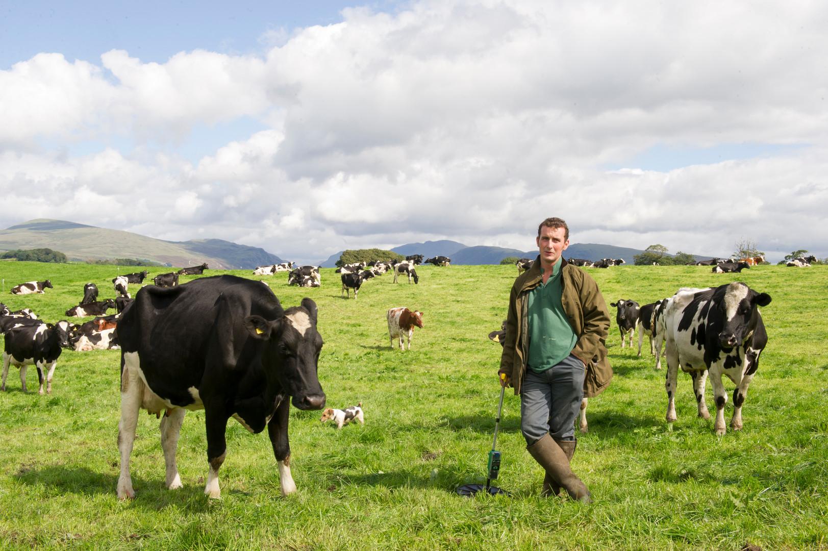 Dairy Farmer in Cumbria by Sirastudio. Photographers in Harrogate.