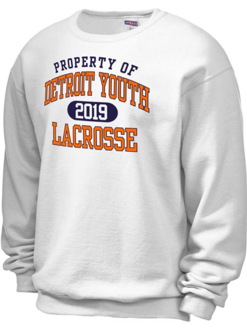 Property of Detroit Youth Lacrosse Crewneck