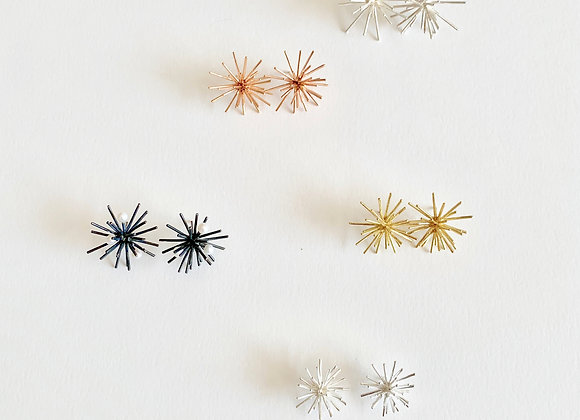 Large sea urchin earrings