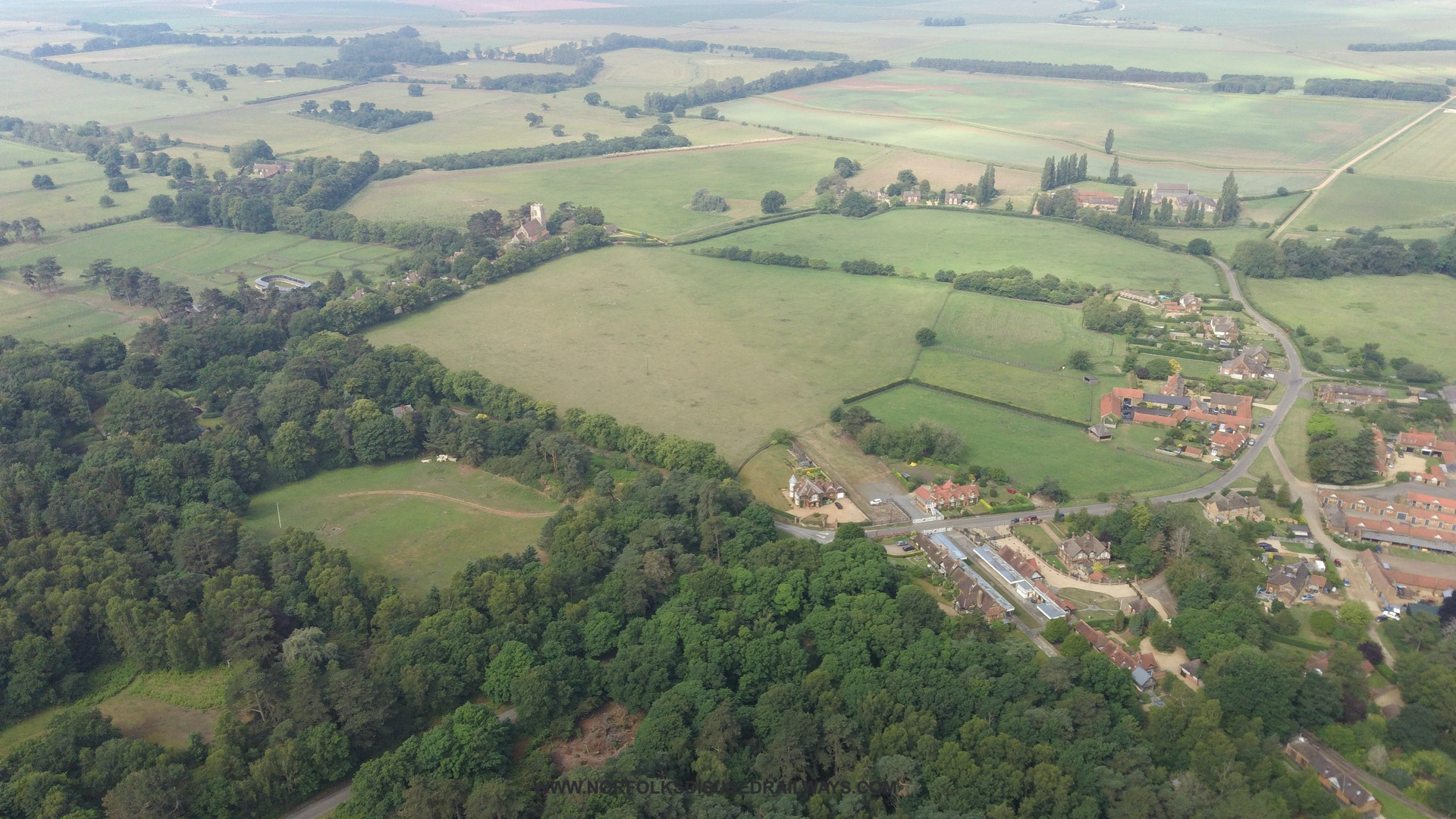 Wolferton from the air