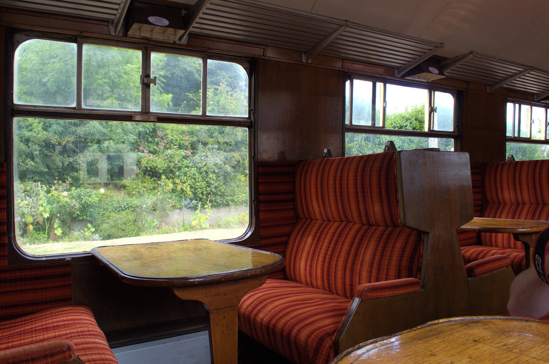 NORTH NORFOLK RAILWAY CARRIAGE INSIDE VIEW