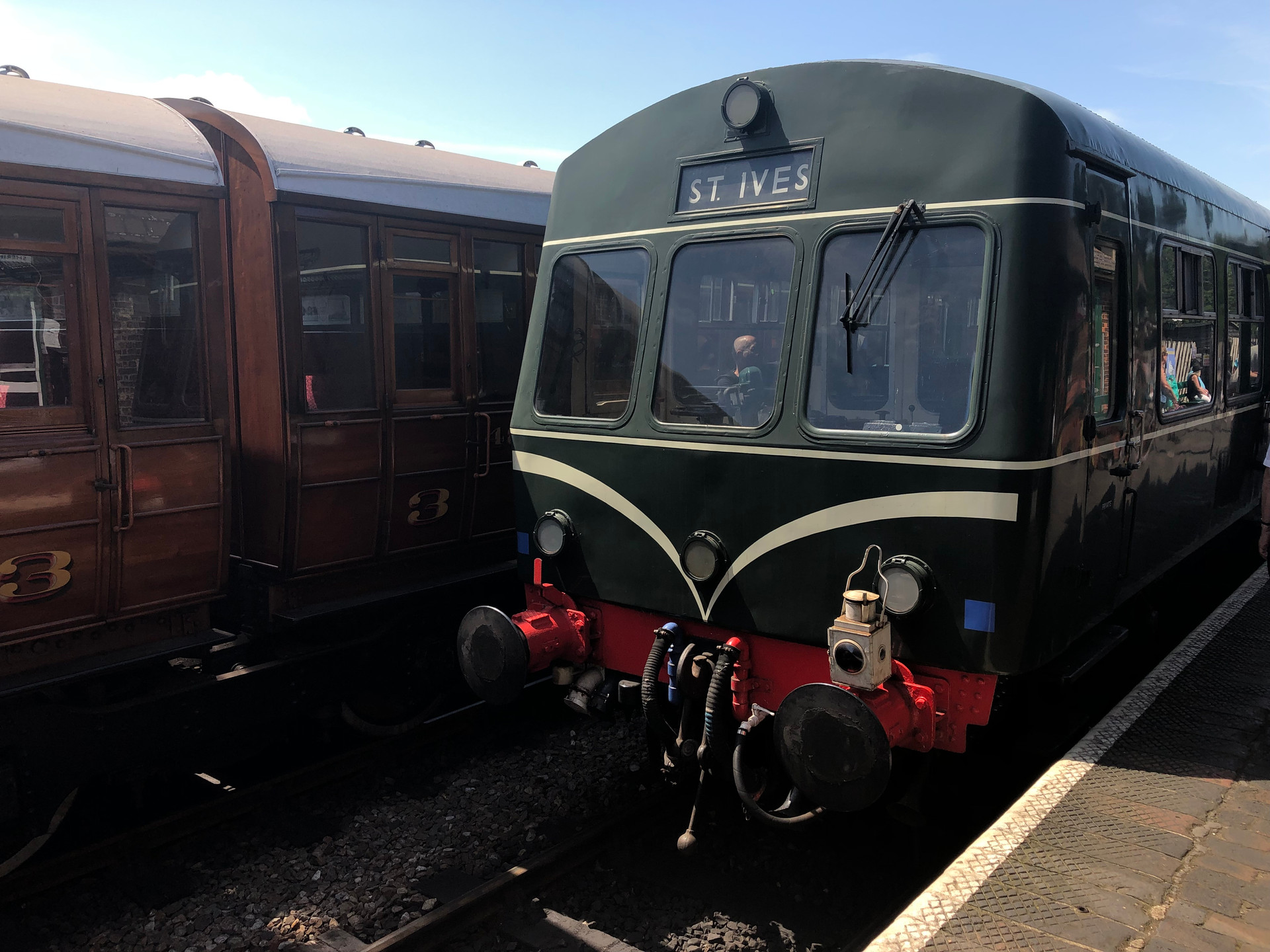 DMU AT SHERINGHAM STATION ON THE NORTH NRFOLK RAILWAY