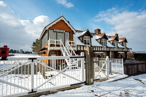wolferton station snow