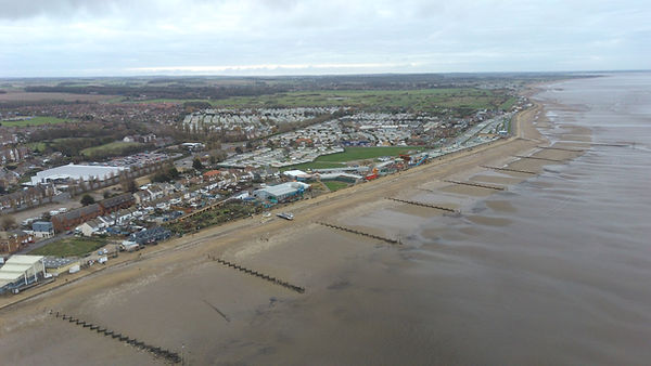 Hunstanton Railway Station aerial view