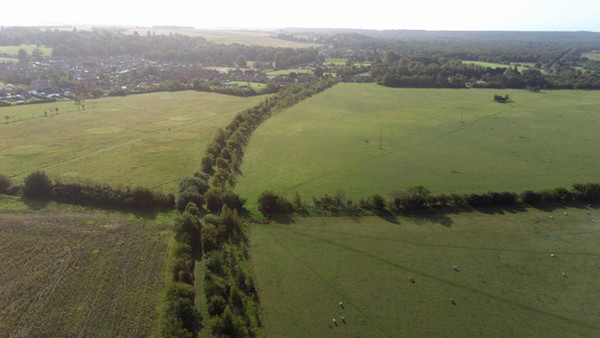 Between ingoldisthorpe crossing and snettisham.Now public foot path in 2020