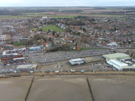 Hunstanton station site in 2020 Aerial views