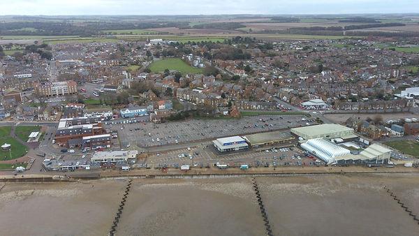 Hunstanton railway station aerial shot