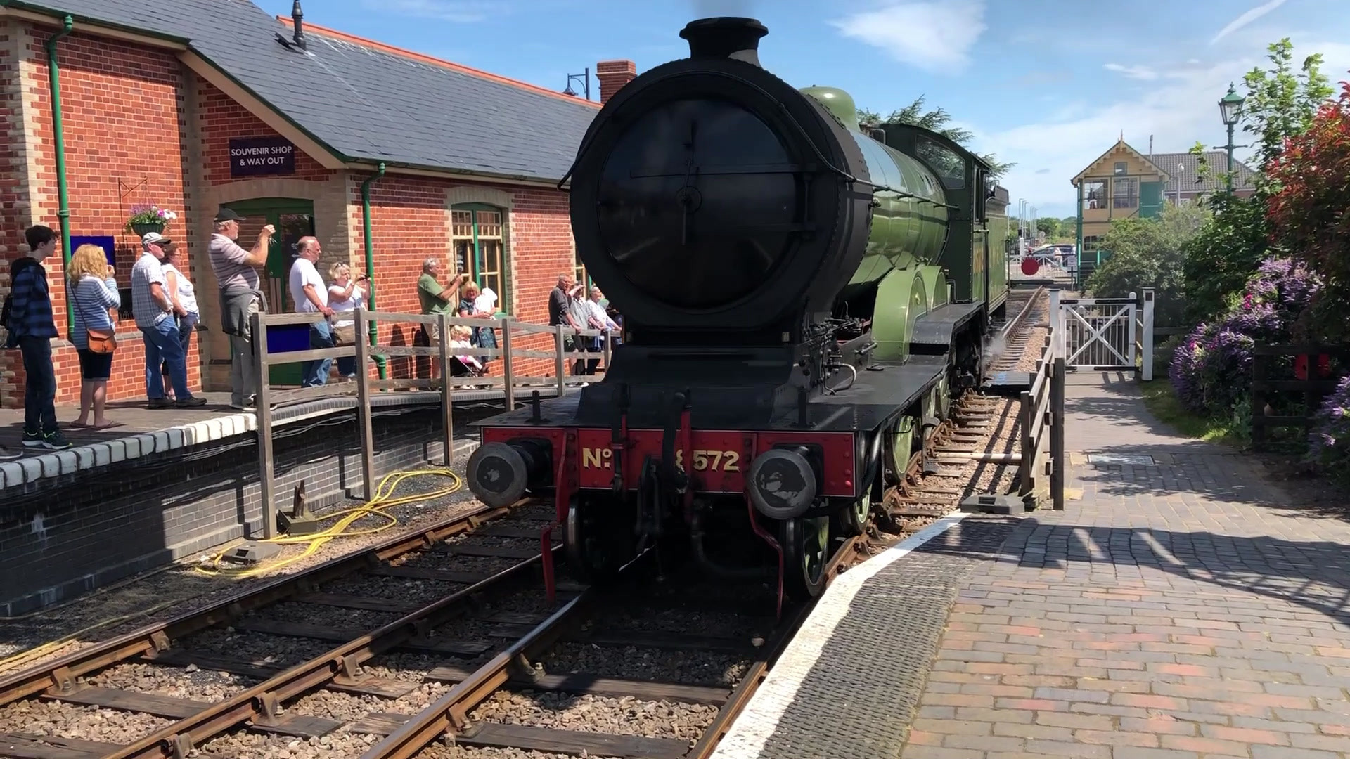 north norfolk railway 8572 steam engine turn around sheringham