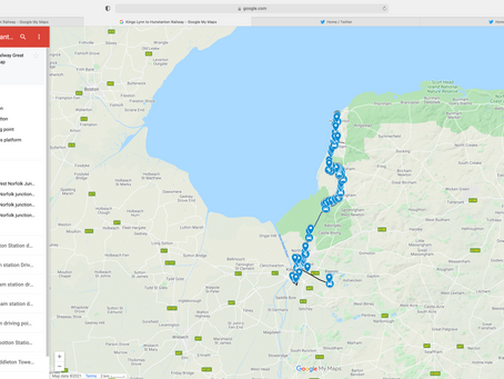 Map coverage of Norfolks disused lines page added