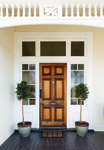 The Vicarage front door