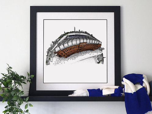 Ibrox Stadium (2020) Hand Drawn Rangers FC Art