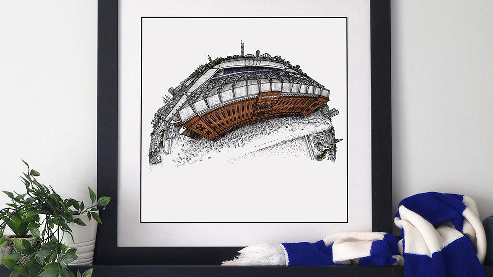 Ibrox Stadium (2020) Hand Drawn Rangers FC Art